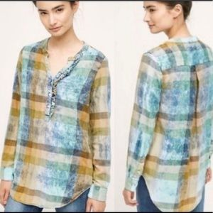 Isabella Sinclair weathered plaid pullover size L